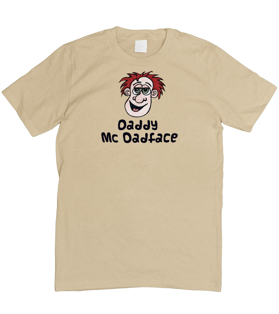 Mens Daddy McDadface Fathers Day Dad Face T-Shirt S - 5XL