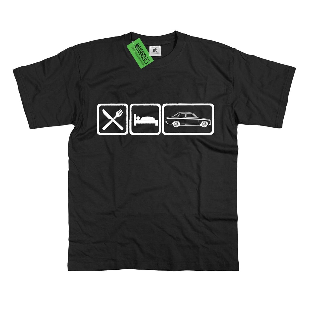 Mens EAT SLEEP Ford Escort Mk1 T-Shirt Mexico Retro Ford S 5XL RS2000 - Motorholics