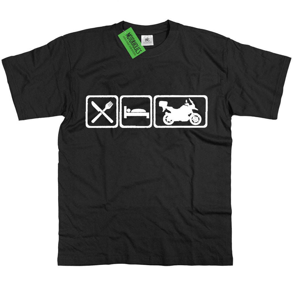 Mens Eat Sleep BMW GS1200 Adventure T Shirt R1200GS RT 1200 GS R