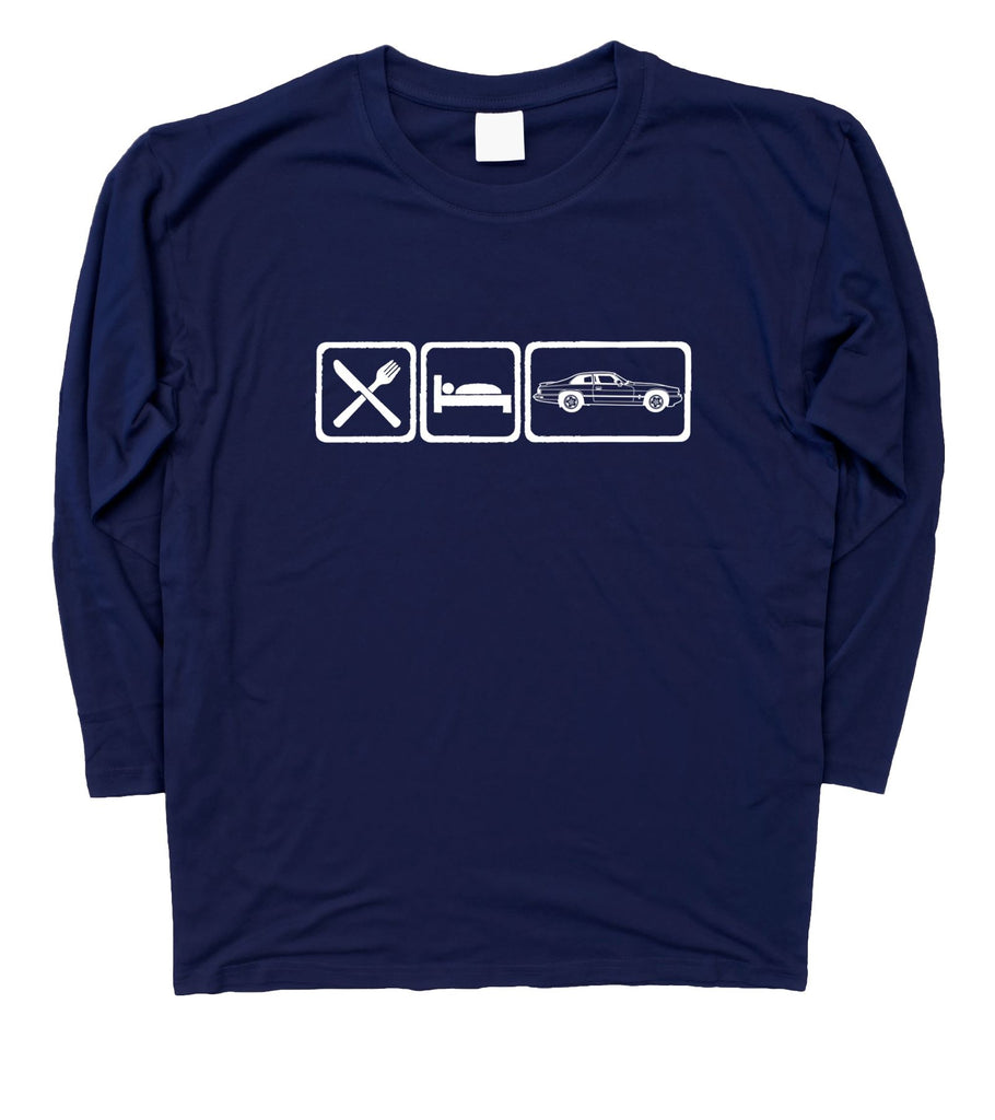 Mens Eat Sleep Jaguar XJS Long Sleeve T-Shirt S - 3XL - Motorholics