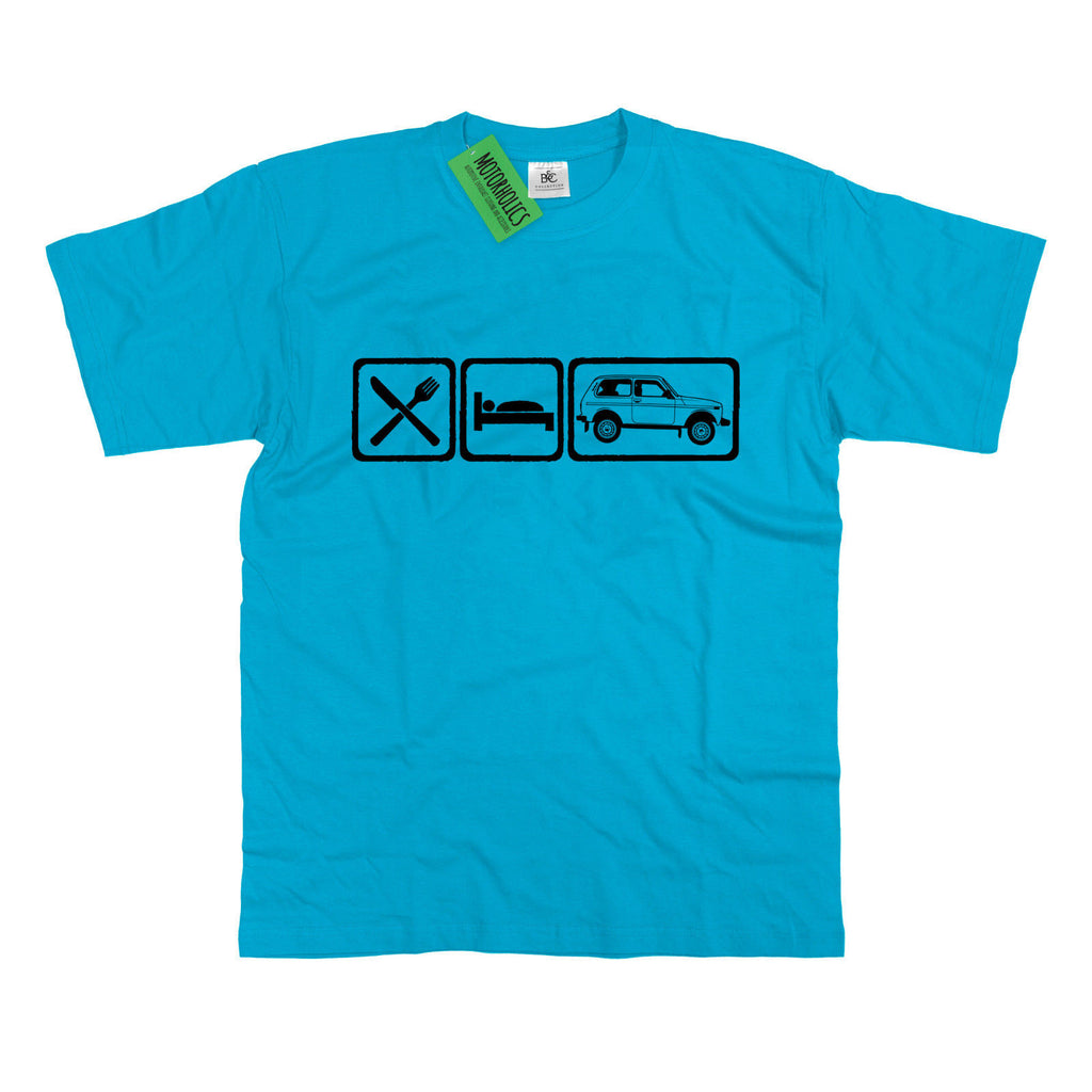 Mens Eat Sleep Lada Niva T-Shirt S - 5XL Cossack Russian 4x4 Off Road - Motorholics