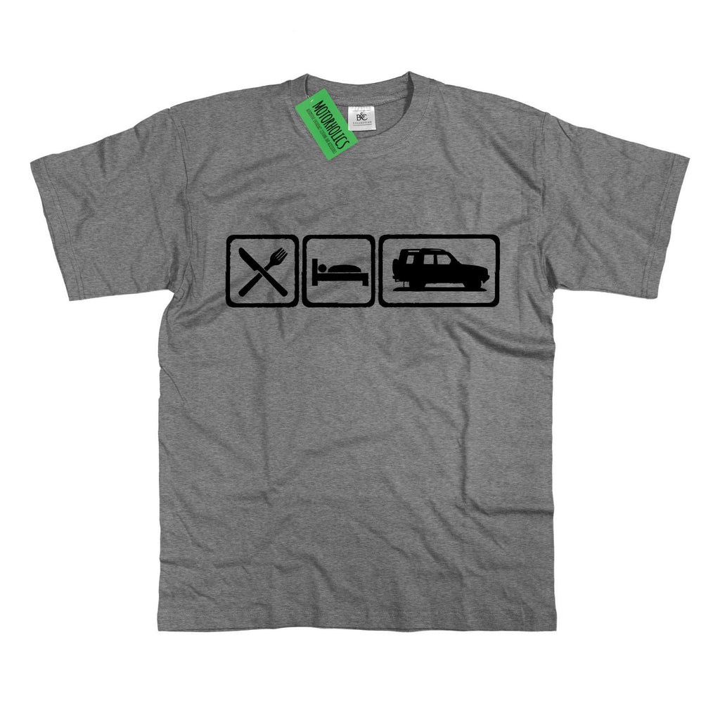 Mens Eat Sleep Land Rover Discovery T Shirt Landrover Disco S - 5XL