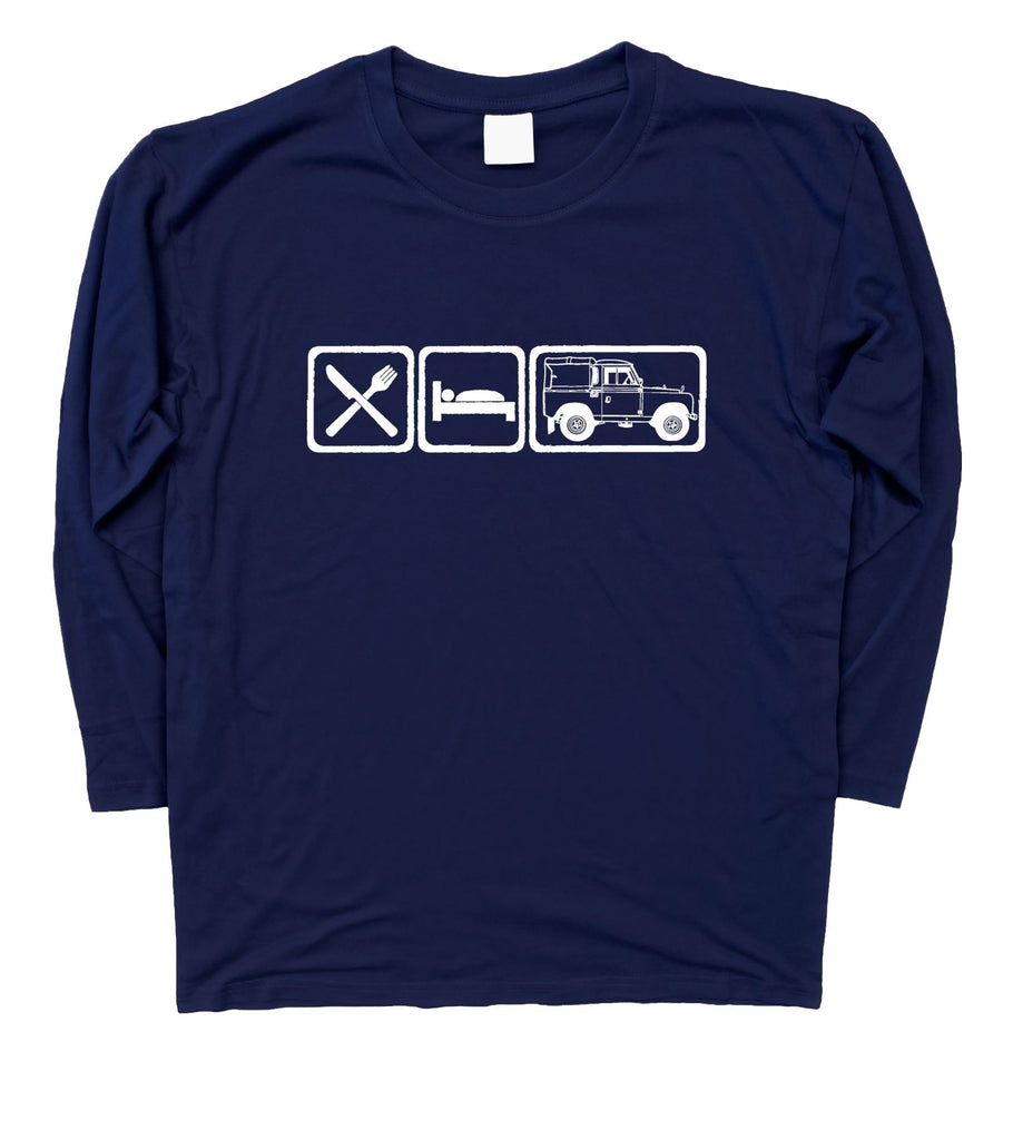 Mens Eat Sleep Land Rover Series 2 / II Long Sleeve T-Shirt S - 3XL