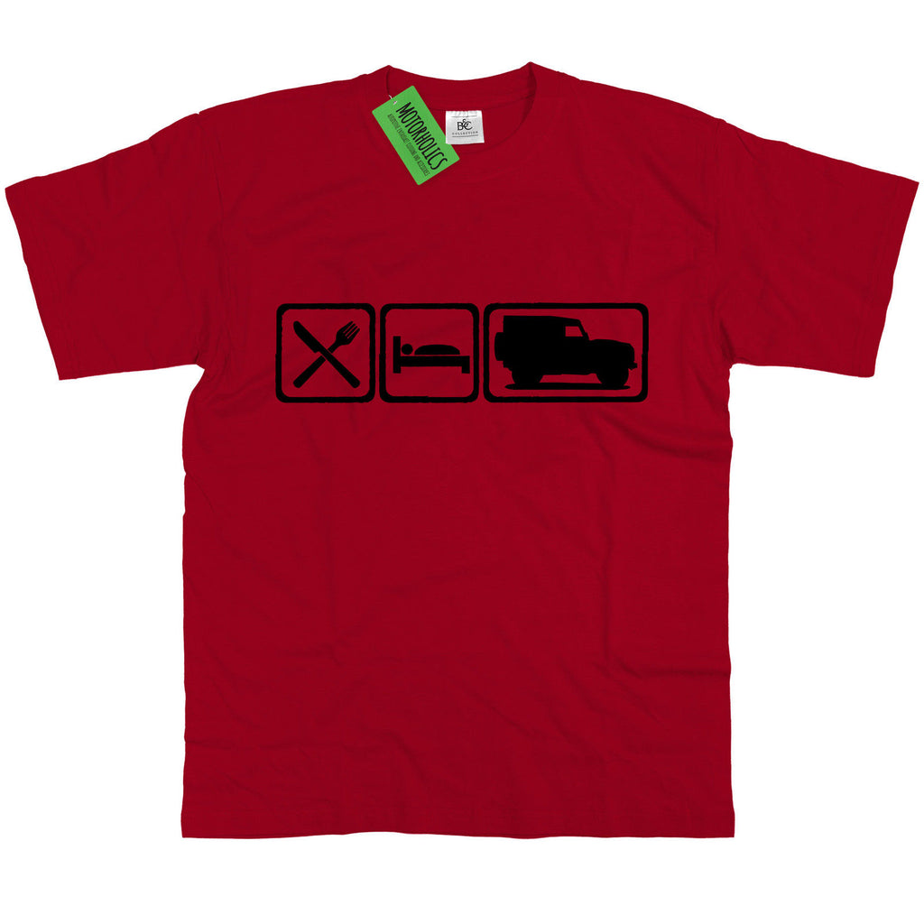 Mens Eat Sleep Landrover Defender 90 T Shirt ~ Ninety Off Road Land Rover