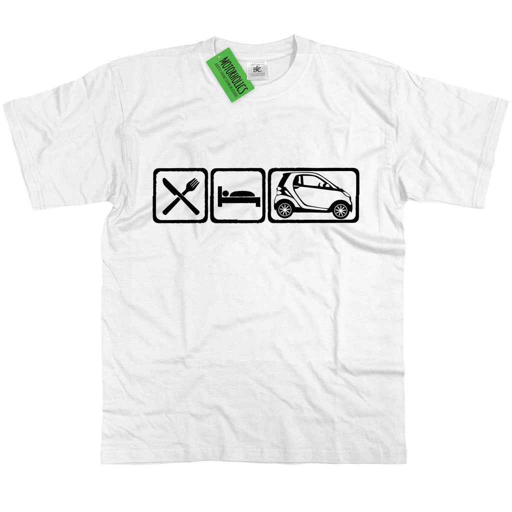 Mens Eat Sleep Smart ForTwo Car T Shirt