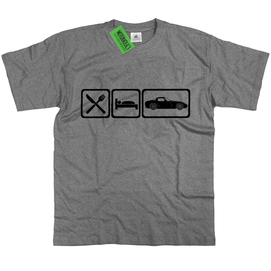 Mens Eat Sleep TVR Griffith 400 500 T Shirt ~ Retro British V8 Car