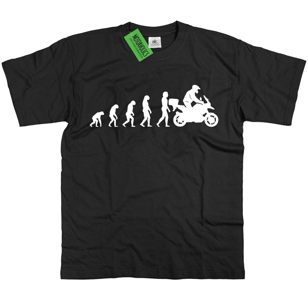 Mens Evolution of Man to BMW GS1200 Adventure T Shirt R1200GS RT 1200 GS R