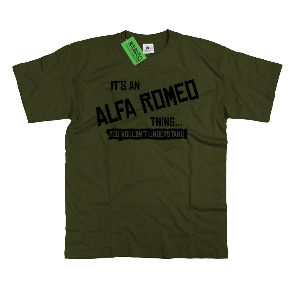 Mens It's an Alfa Romeo thing... you wouldn't understand T Shirt Classic Retro