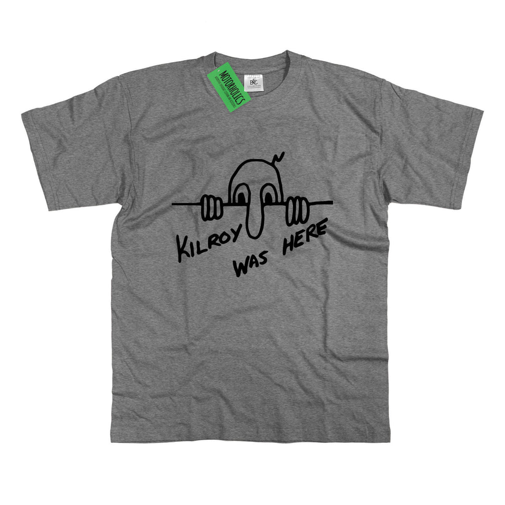 Mens Kilroy Was Here T-Shirt - Chad Foo Graffiti Funny Gift Dad Fathers S - 5XL