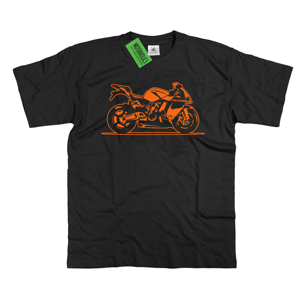 Mens ORIGINAL SKETCH KTM RC8 T-Shirt Superbike 1190 S - 5XL