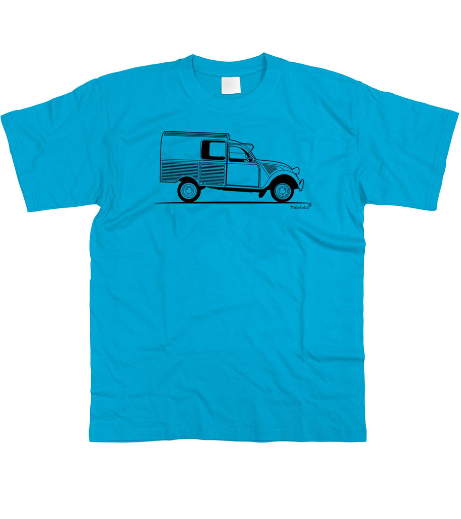 Mens Original Sketch Citroen 2CV Fourgonnette Van T-Shirt S - 5XL