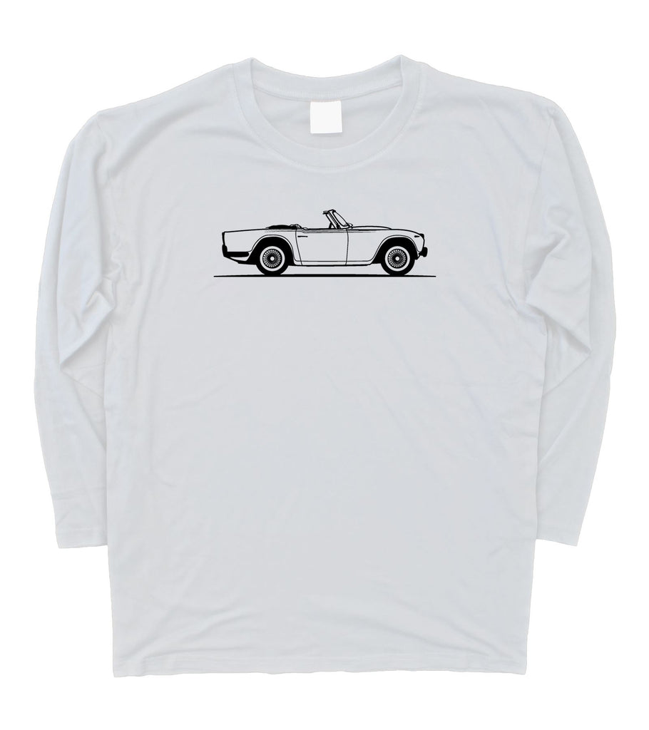 Mens Original Sketch TRIUMPH TR250 Long Sleeve T-Shirt S - 3XL