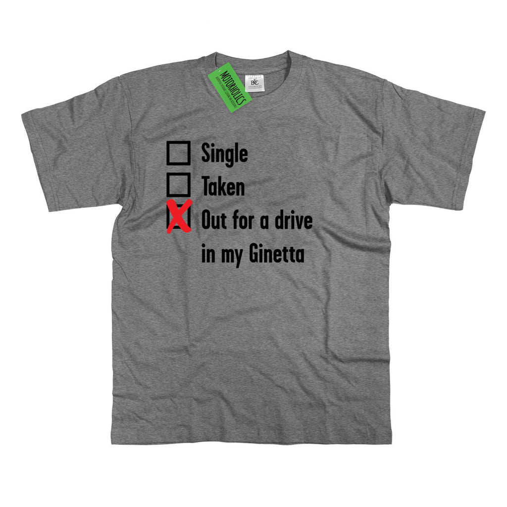Mens Single, Taken out for a Drive Ginetta T Shirt Classic British Sportscar G40