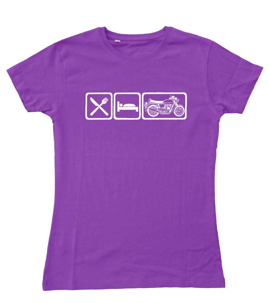 Motorholics Ladies EAT Norton Commando Fitted T-Shirt S - 2XL / 10 - 18
