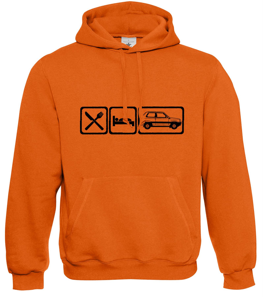 Motorholics Mens Eat Sleep FIAT PANDA 4X4 Hoodie S - 5XL
