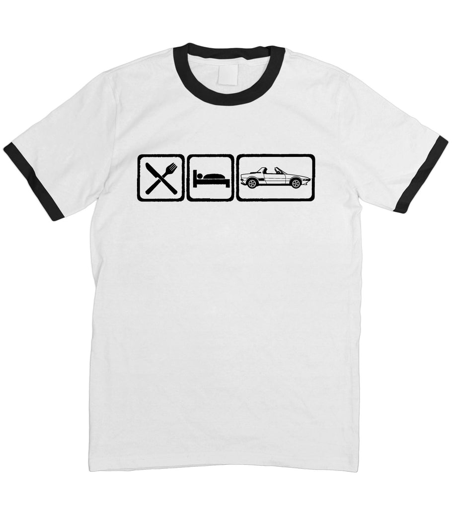 Motorholics Mens Eat Sleep FIAT X19 T-Shirt S - 5XL