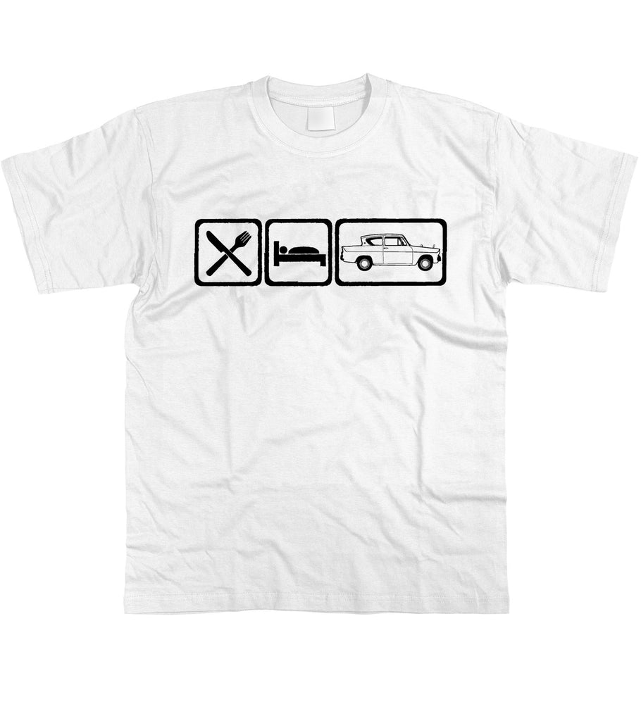 Motorholics Mens Eat Sleep Ford Anglia T-Shirt S - 5XL
