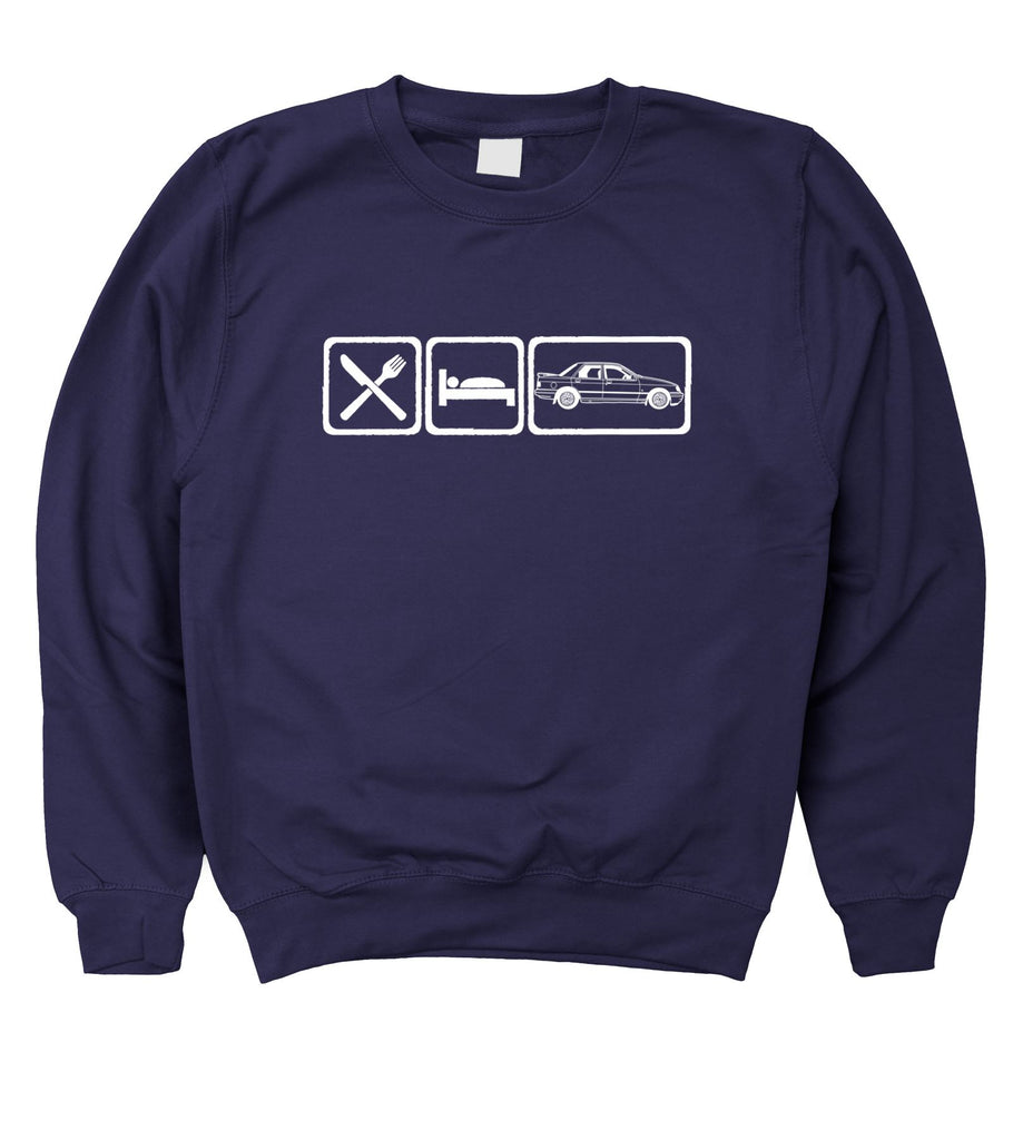 Motorholics Mens Eat Sleep Ford Sierra Sapphire Cosworth Sweatshirt S - 5XL