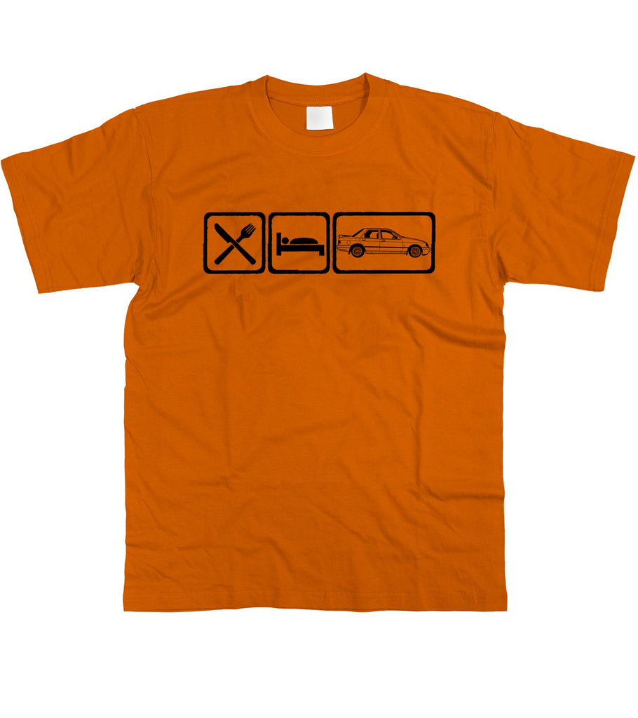Motorholics Mens Eat Sleep Ford Sierra Sapphire Cosworth T-Shirt S - 5XL