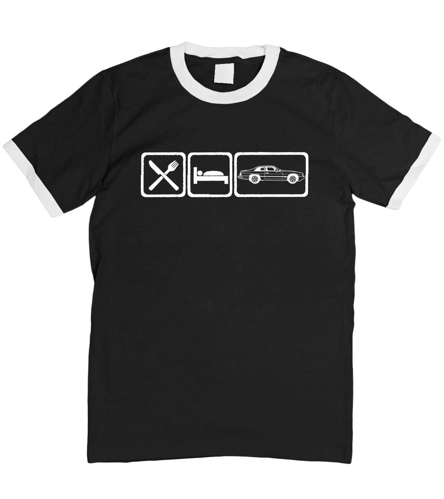 Motorholics Mens Eat Sleep Jaguar XJS T-Shirt S - 5XL