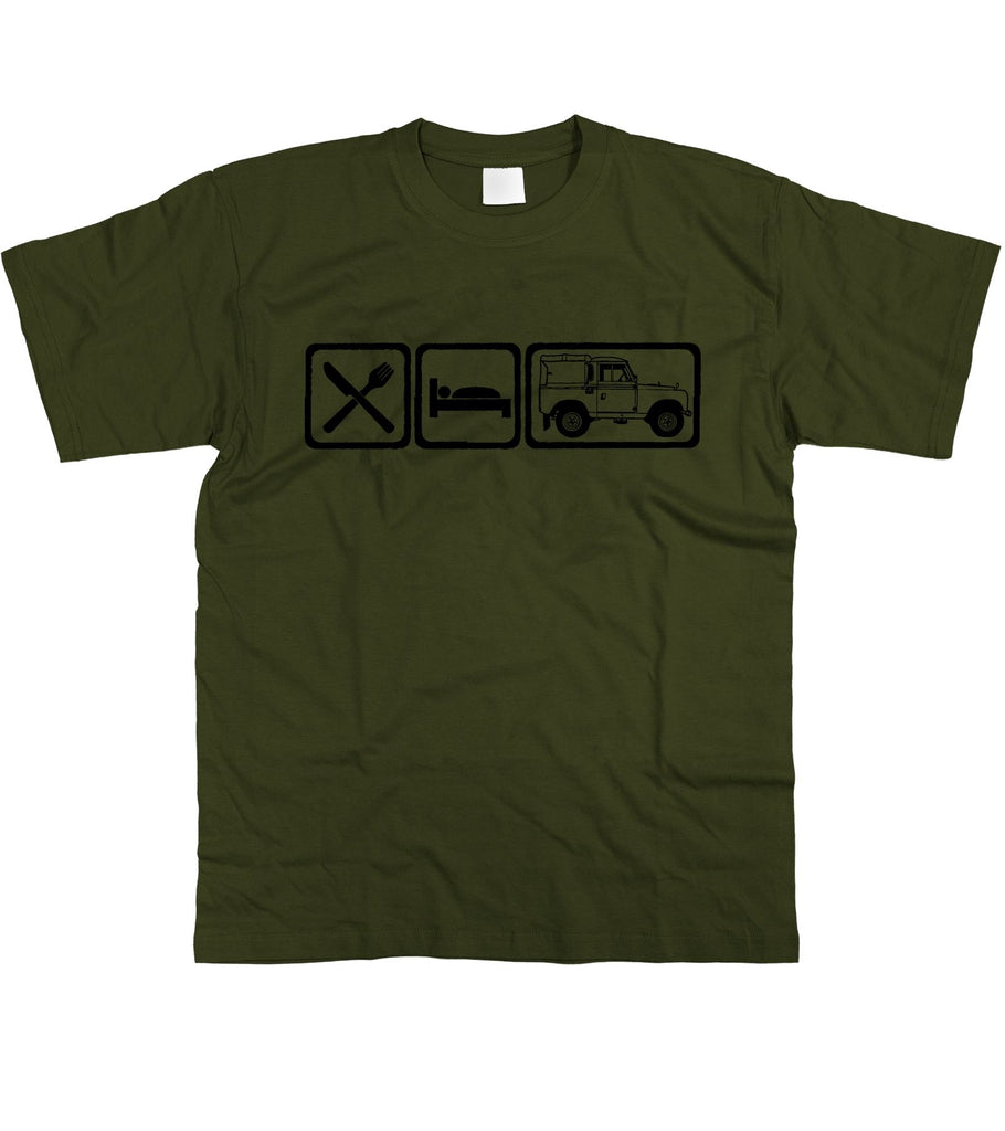 Motorholics Mens Eat Sleep Land Rover Series 2 / II T-Shirt S - 5XL
