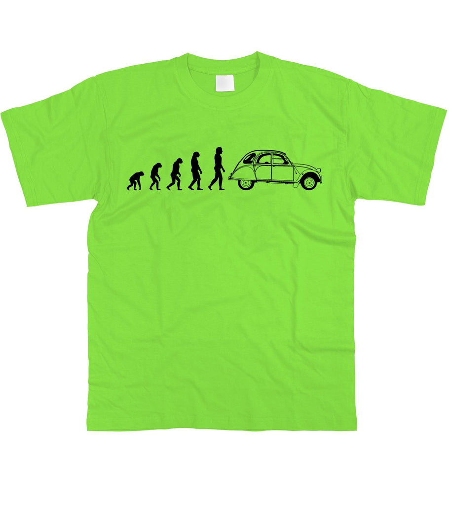 Motorholics Mens Evolution of Man to Citroen 2CV T-Shirt S - 5XL