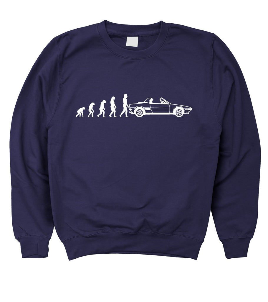 Motorholics Mens Evolution of Man to FIAT X19 Sweatshirt S - 5XL
