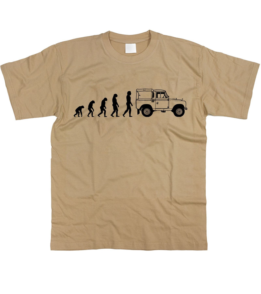 Motorholics Mens Evolution of Man to Land Rover Series 2 / II T-Shirt S - 5XL