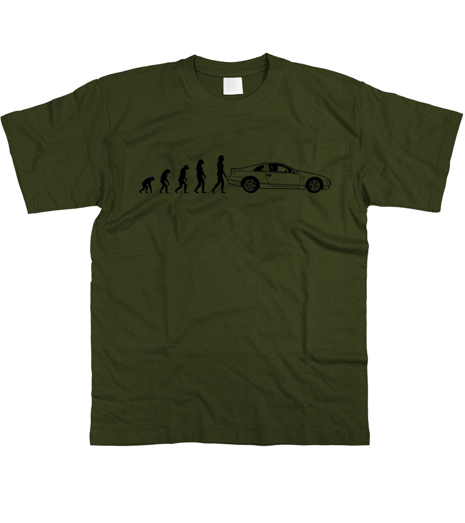 Motorholics Mens Evolution of Man to Nissan 300ZX T-Shirt S - 5XL
