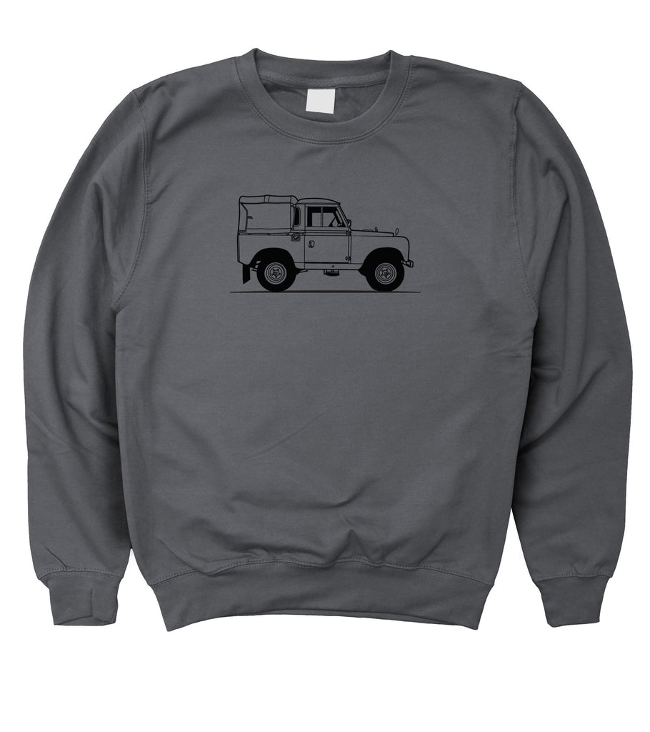 Motorholics Mens Original Sketch Land Rover Series 2 / II Sweatshirt S - 5XL - Motorholics