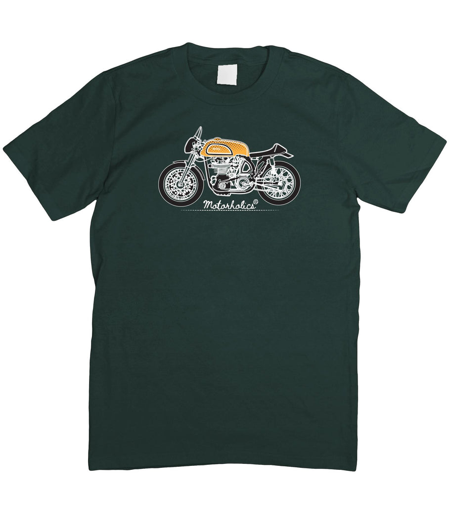 Motorholics Norton Manx Illustration T-Shirt Classic British Motorcycle S - 2XL