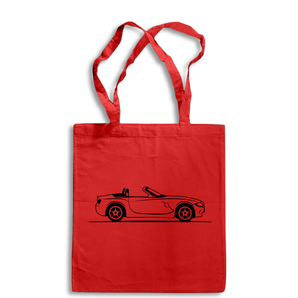 Original Sketch BMW Z4 Tote Bag for Life Cotton Shopping German Sports Car