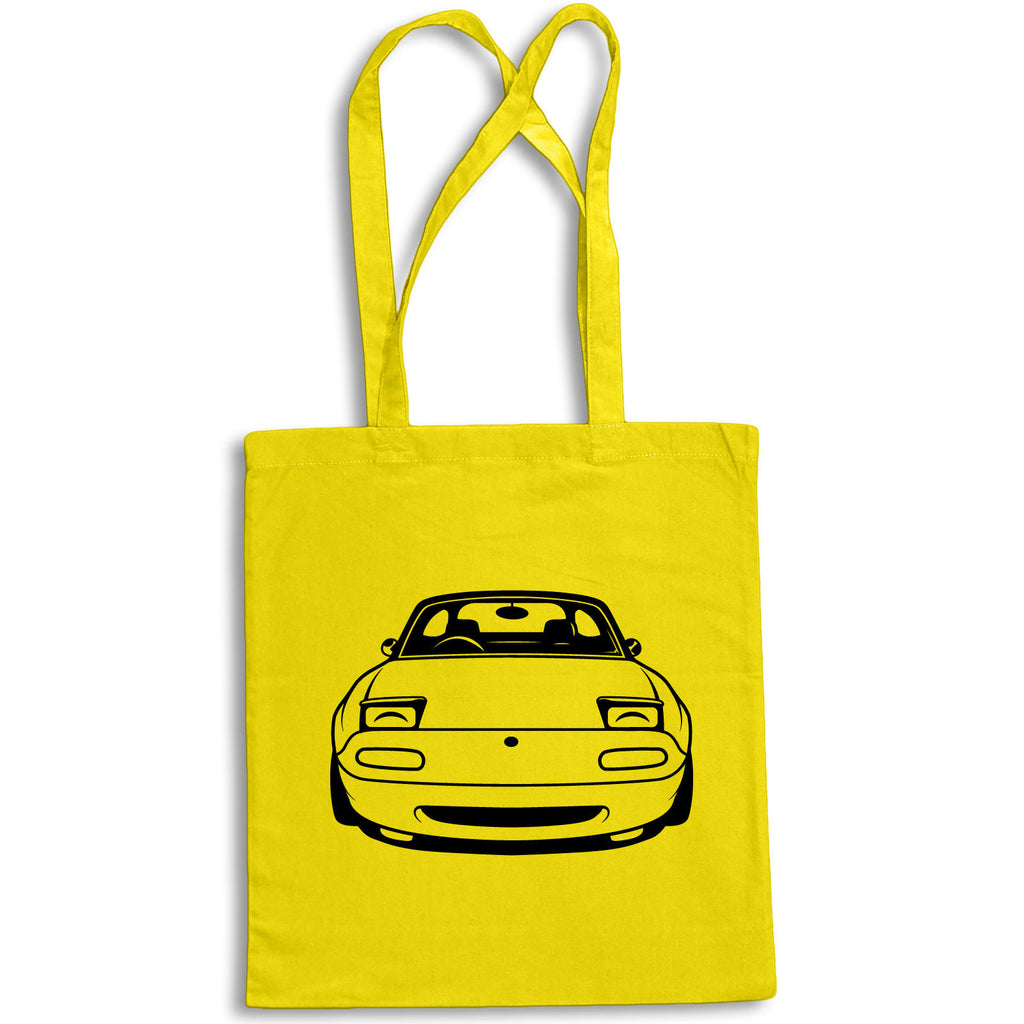 Original Sketch MAZDA MX5 MK 1 Tote Bag for Life Cotton Shopping Sportscar Retro