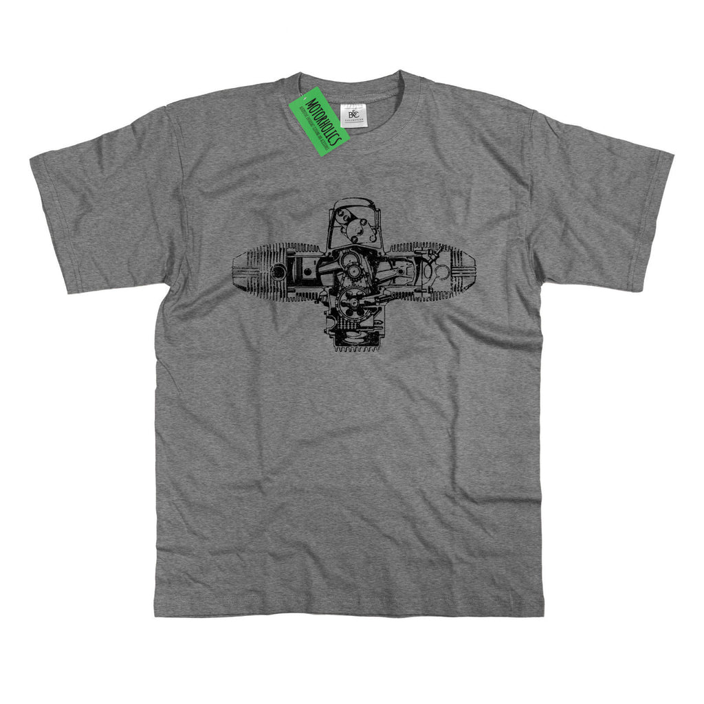 R Series Boxer Engine Diagram Retro 70s Cafe Racer T Shirt S 5XL R1200GS R90S