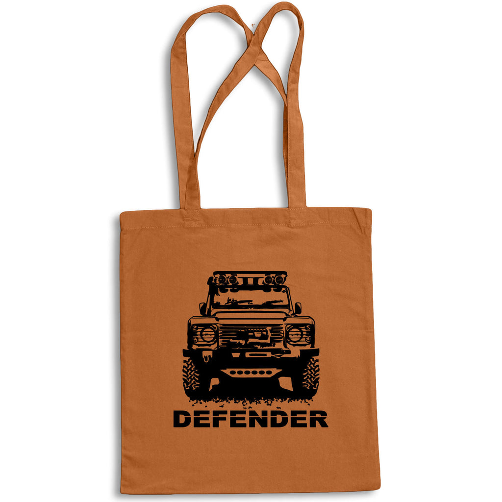Sketch MODIFIED DEFENDER Tote Bag for Life Cotton Shopping Land Rover 4x4 Landy