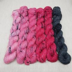 The Poppy Fade 300g Set - Sparkle Sock (Ready to ship)