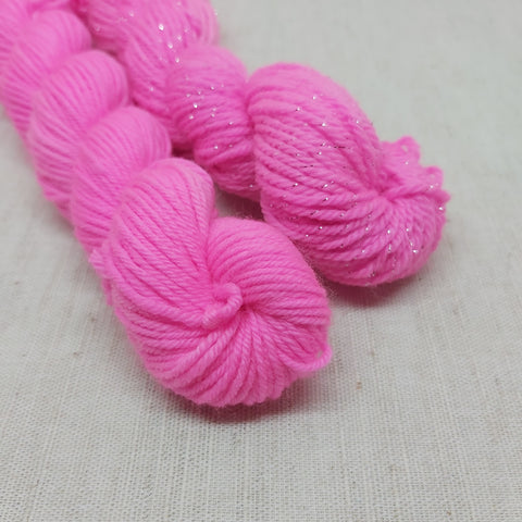 BRIGHT Flourescent Pink Mini Skeins - 20g
