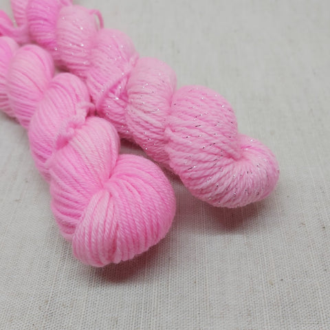Flourescent Soft Pink Mini Skeins - 20g