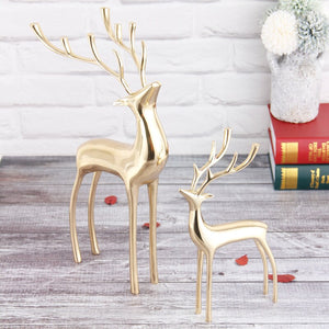 European Creative Pure Copper Deer Sculpture Wedding Room Living Room TV Cabinet Modern Home Sculpture Crafts Decorations