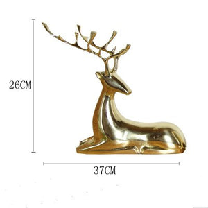 Pure copper deer sitting room furnishing modern simple restaurant porch wine cabinet creative home decoration