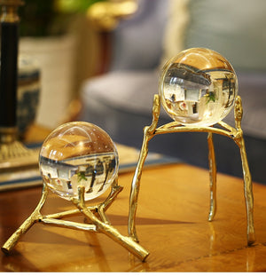 Home Decoration Crystal Ball Decoration European Living Room TV Cabinet Bookcase Office Wine Cabinet Decoration Wedding Gift