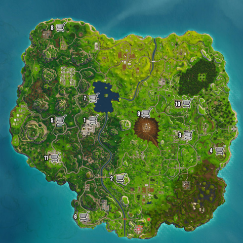 carte fortnite champignon