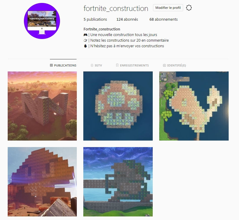 Un Compte Instagram Propose Du Pixel Art Sur Fortnite