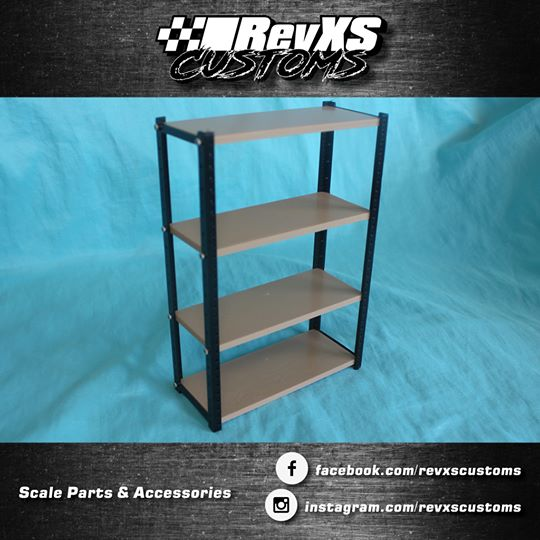 RevXS Customs: 1:10 Scale Straight Shelving Unit