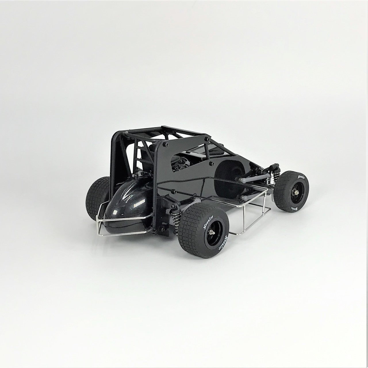 1RC: 1/18 Midget 2.0, Black, RTR - w/Clear Body Set