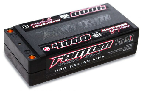 Fantom: 4000mAh 100-160C 2S 7.4V Shorty MaxV-SPEC Pro Graphene LiPo