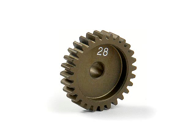 XRAY: Narrow Pinion Gear Alu Hard Coated 28T 48P