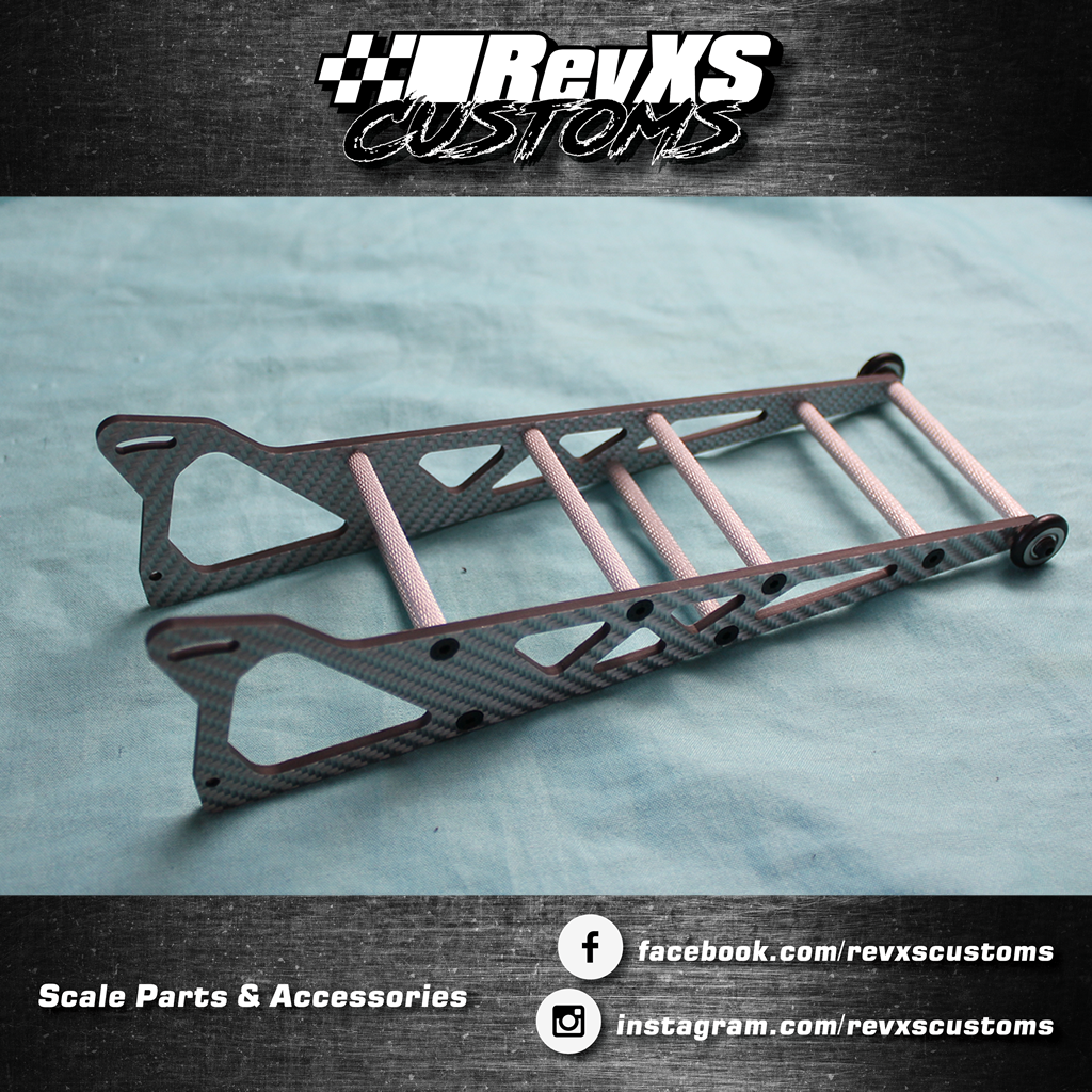 RevXS Customs: Carbon Fibre Wheelie Bar - Suit Traxxas Bandit, Slash, Rustler and Stampede