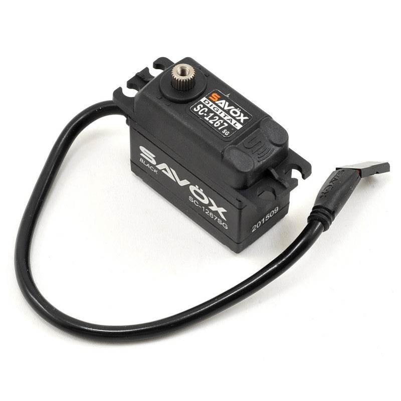 Savox: HV STD size 21kg/cm, Black, Coreless Digital Servo, 0.095 sec, 7.4V 62g, 40.3x20x37.2mm