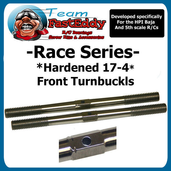 "Team FastEddy: ""Race Series"" Hardened Front Turnbuckle Set for HPI Baja 5B/5T/5SC"